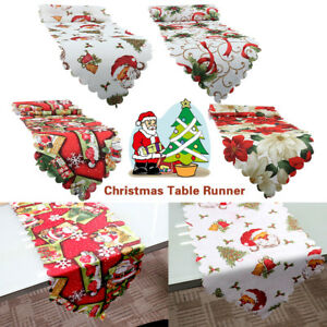 Christmas-xmas-table-runners-Santa-Claus-Home-Tablecloth-Decorations-Dining-Room