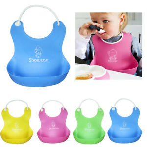 Cute Baby Silicone Bibs Waterproof Saliva Dripping Kid Infant Lunch Bibs