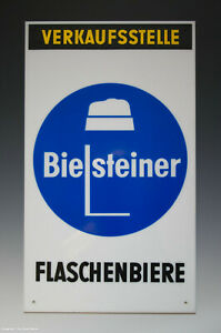 Seltenes-Schild-aus-Kunststoff-VERKAUFSSTELLE-Bielsteiner-FLASCHENBIERE-um-1960