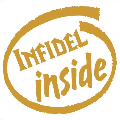 TWO Pack Sticker 2 Infidel Inside Vinyl Decal
