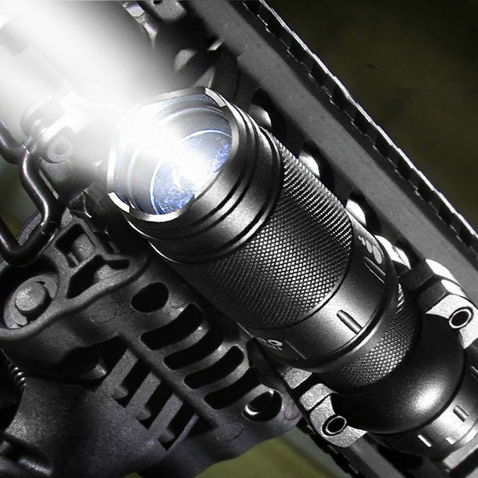 Barska FLX 140 Lumen LED, 2 Level Brightness, Tactical Flashlight, BA11403