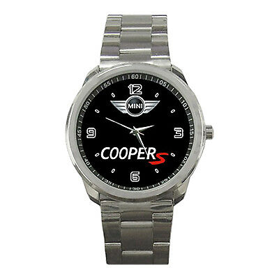 Mini Cooper S Logo British Sport Metal Watch For Gift