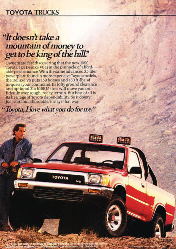 1990 Toyota Trucks Money Classic Vintage Advertisement Ad D89