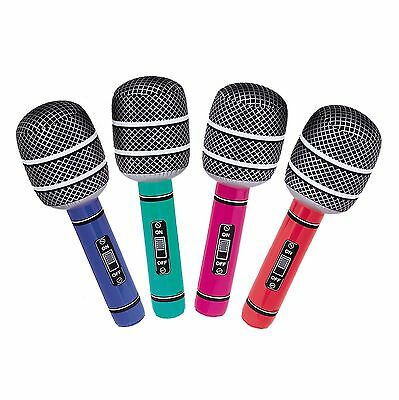"10"" Inflatable Rock Roll Music Singing Mircophone Party Time Prop Accessories"