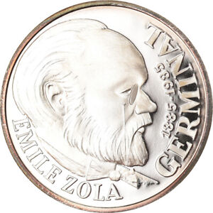 [#893339] Coin, France, Emile Zola Germinal, 100 Francs, 1985, Proof, MS(65-70)