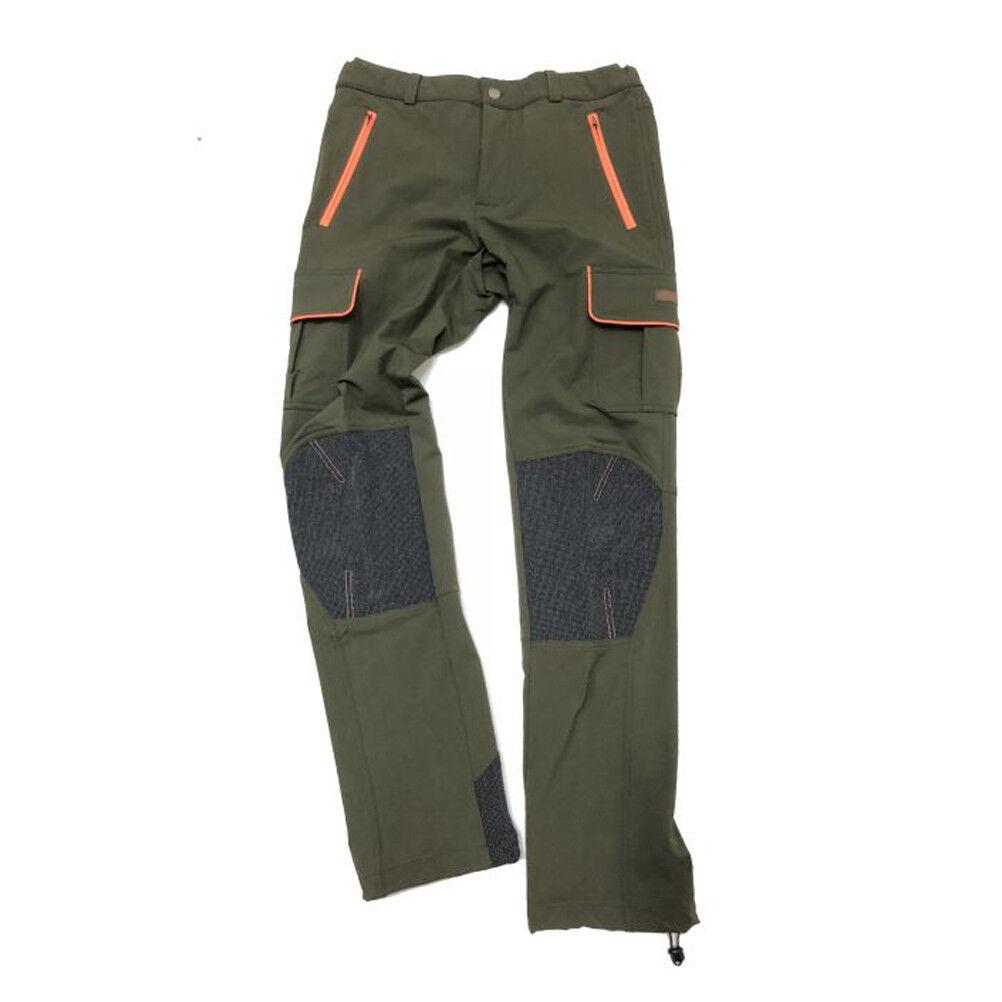 Pantalone pantaloni caccia cinghiale sfoderato rinforzato uomo nylon elastan