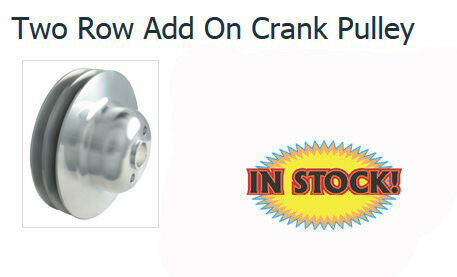 Ford Y-Block 292//312 2 Groove Crank Pulley Borgeson 801150 Satin Aluminum
