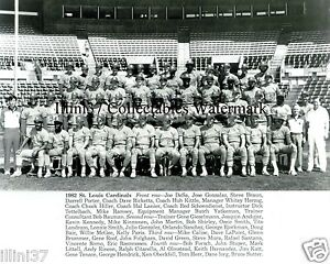 Image Is Loading 1982 ST LOUIS CARDINALS WORLD SERIES CHAMPIONS 8X10
