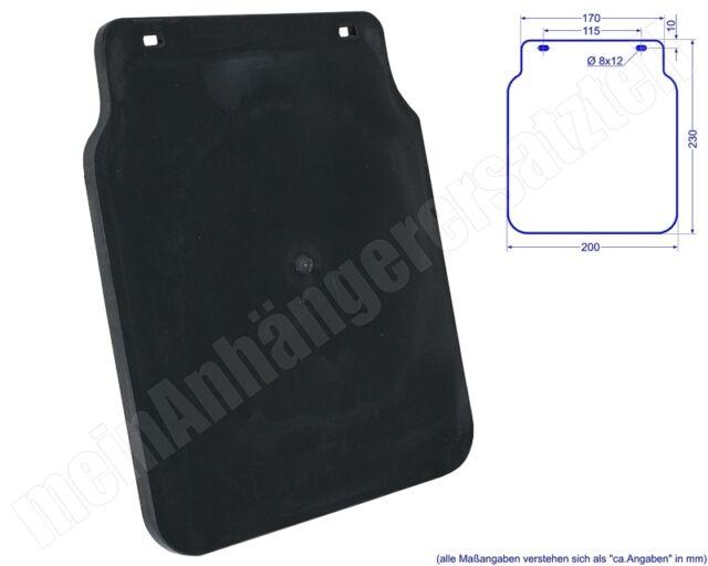Schmutzfänger Spritzschutz 200x230mm für Pkw Anhänger Trailer