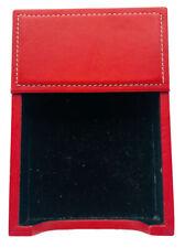 Classic Bey Berk Red Leather 4x6 Memo Holder