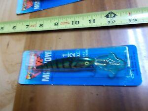 Luhr-Jensen-Power-Dive-Minnow-1-2-oz-Lure-Fishing-NIP-Metallic-Perch
