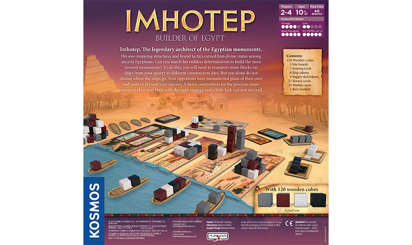 IMHOTEP Builder of Egypt Strategy Strategy Strategy Game by Phil Walker-Harding Kosmos 692384 315693