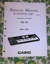 CASIO SK5 SK-5 / CONCERTMATE 500 ** repair / SERVICE Manual booklet