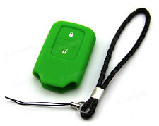 Green Silicone Case Cover For Honda Fit Odyssey Vezel Remote Smart Key 2 Buttons