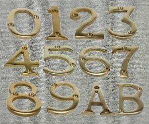 Brass-Screw-In-House-Door-Number-Numeric-Digits-Plate-Plaque-Gold-Sign-2-Inch
