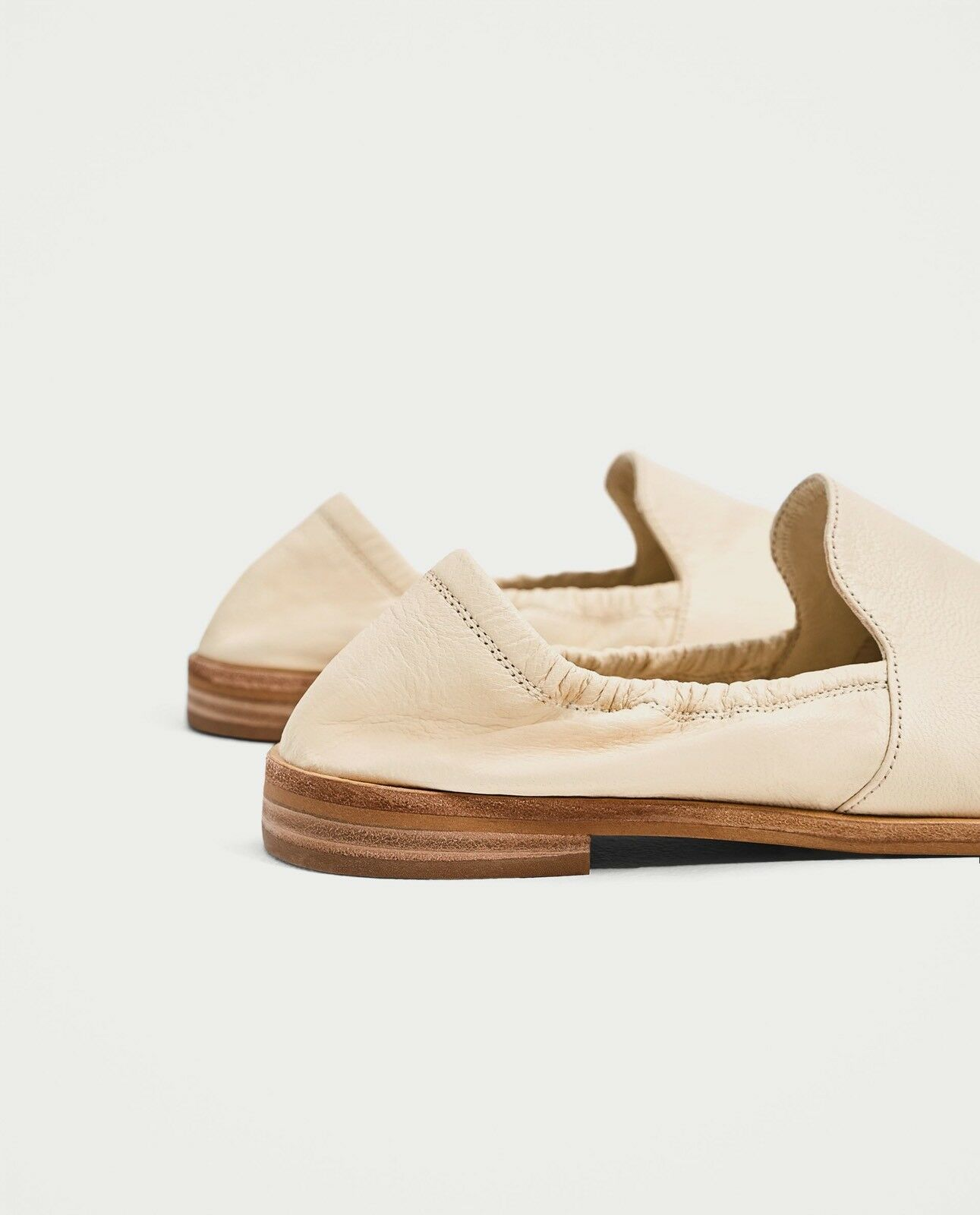 Zara Damens Soft Leder slippers 5303/201 Größe 6.5 EUR 37 NWT