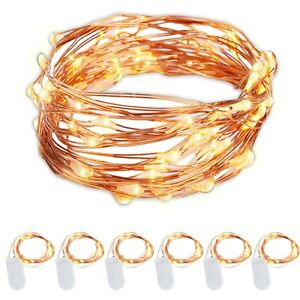 6-Pack-Battery-Operated-String-Lights-Warm-White-Copper-Wire-7-Ft-20-LED