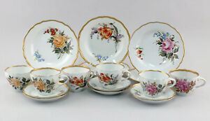 8640054-Porzellan-Schierholz-Blumen-feinste-Handmalerei-6-Sammelgedecke