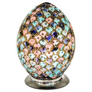 Blue & Pink Mosaic Tile Medium Egg shaped Lamp