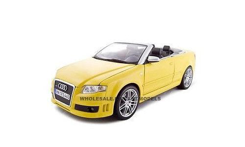 2008 AUDI RS4 CONVT YELLOW 1:18 DIECAST MODEL CAR BY MAISTO 31147
