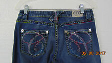 COOGI Australia 1969 sz 9/10 Straight leg skinny jeans 32x32  womens Rhinestone