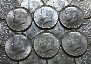 3-FACE-VALUE-UNCIRCULATED-UNC-1964-Kennedy-Half-Dollar-90-SILVER-HALF-DOLLAR