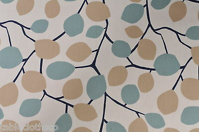 "1m/39"" wipeable wipe clean oilcloth pvc duck egg blue fabric cover TABLECLOTH CO"