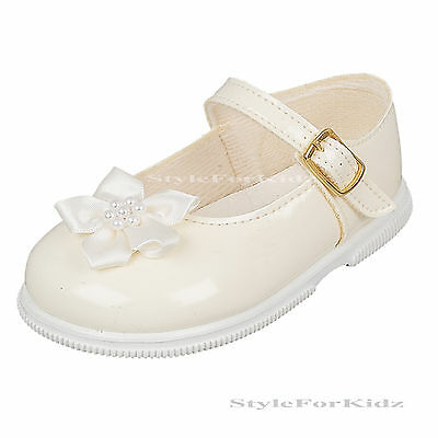BABY GIRLS WALKING SHOES IVORY,WHITE CHRISTENING,WEDDING FIRST WALKERS PARTY