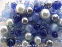Glass Bead Mix / Bracelet Making Kit - Bluebell