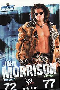 WWE Slam Attax Evolution-John Morrison SMACKDOWN carte