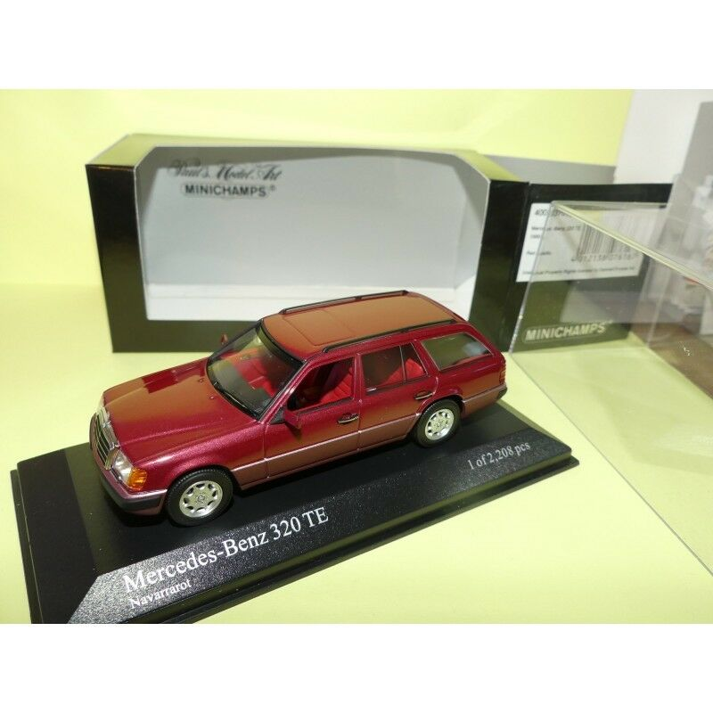 MERCEDES 320 TE 1990 Rouge Bordeaux MINICHAMPS 1 43