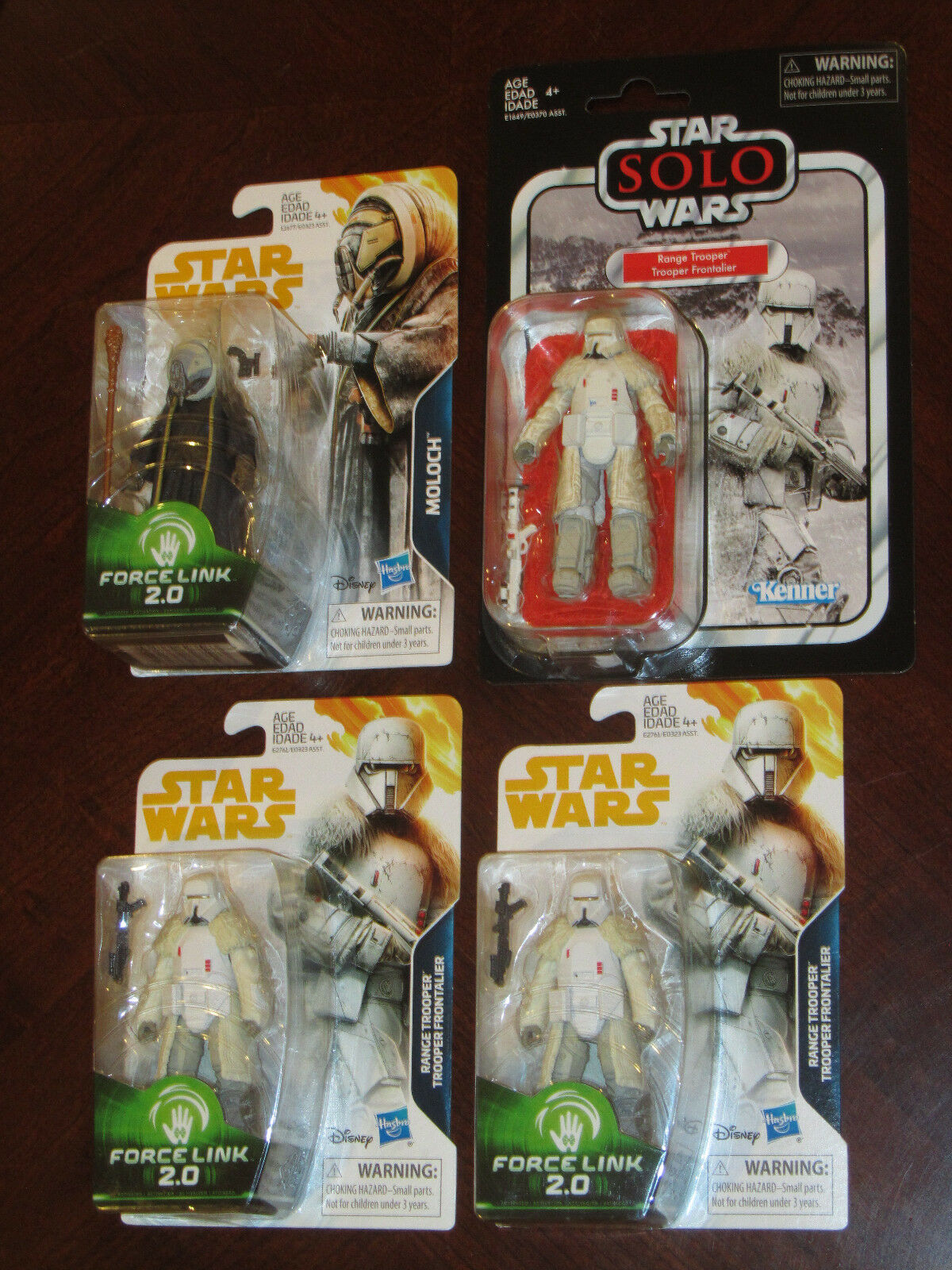 Star Wars Force Link 2.0 & Vintage Collection VC128 Range Trooper 3x & Moloch