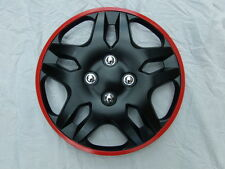 "14 ""Pollici Copricerchi Set di 4 (PEUGEOT 107,206, Partner Van) red+black"