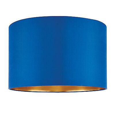 liberée Boutique ABAT JOUR 40.6cm bleu nuit soie doré 250mm H x 400mm d