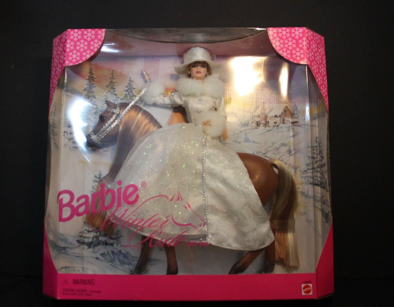 Barbie  Invierno Paseo Giftset-Barbie Y Caballo al por mayor club Exc. nunca quitado de la caja