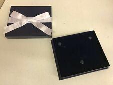 Lot 60 Necklace Retail Jewelry Ribbon Gift Box Dark Blue Paper Velvet Wholesale