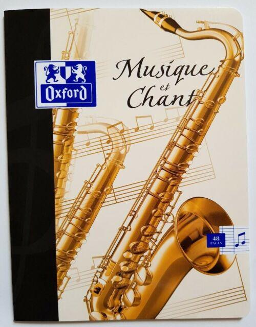 cahier de musique et chant 17x22 48p. OXFORD