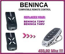 Beninca T2WV / Beninca T4WV compatibile radiocomando telecomando. 433,92Mhz