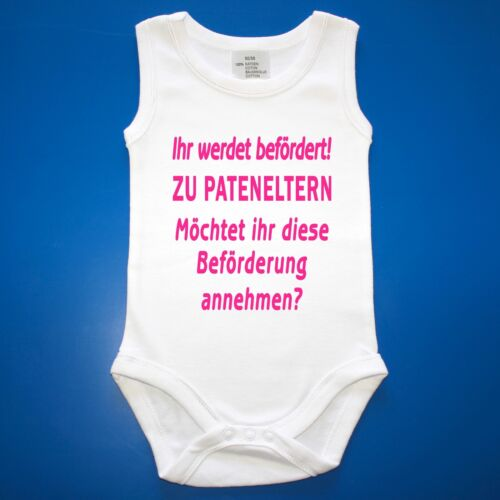 Taufpaten Taufe Patenonkel oder Pateneltern Babybody Baby Body Patentante