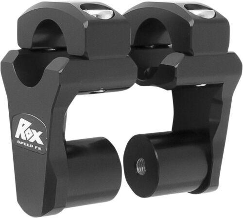 """2/"""" Pivoting Bar Riser for 1-1//8/"""" Handlebars 1R-P2PPK Black Rox Speed FX"""