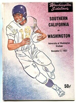 Usc Southern California Vs Washington Football Program 11 2 1957 Ebay