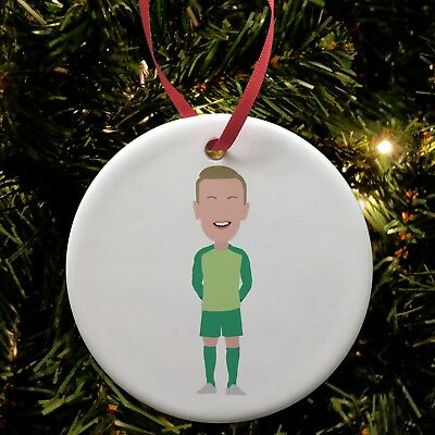 Ceramic Christmas Tree Decorations.Jordan Pickford Everton Ceramic Christmas Tree Decoration Bauble Unofficial Ebay