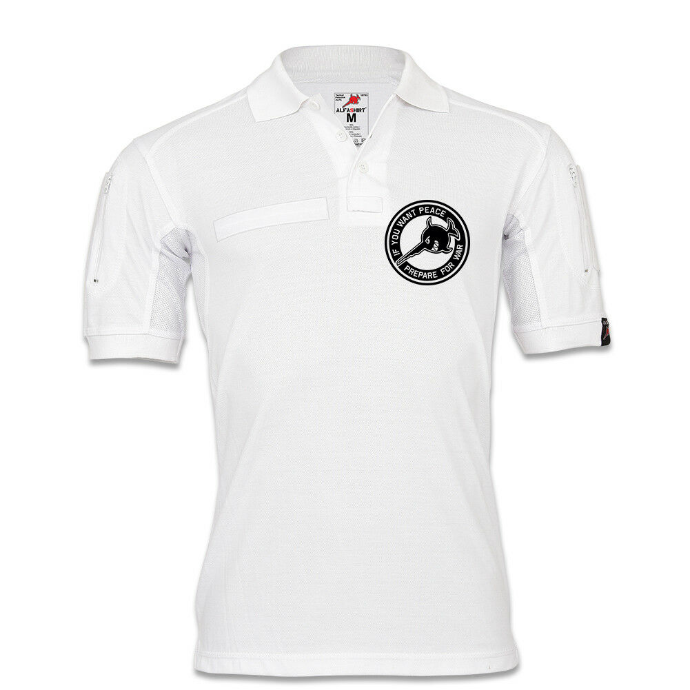 Tactical Polo Alfa If you want peace prepare for war BW Soldat Sägefisch