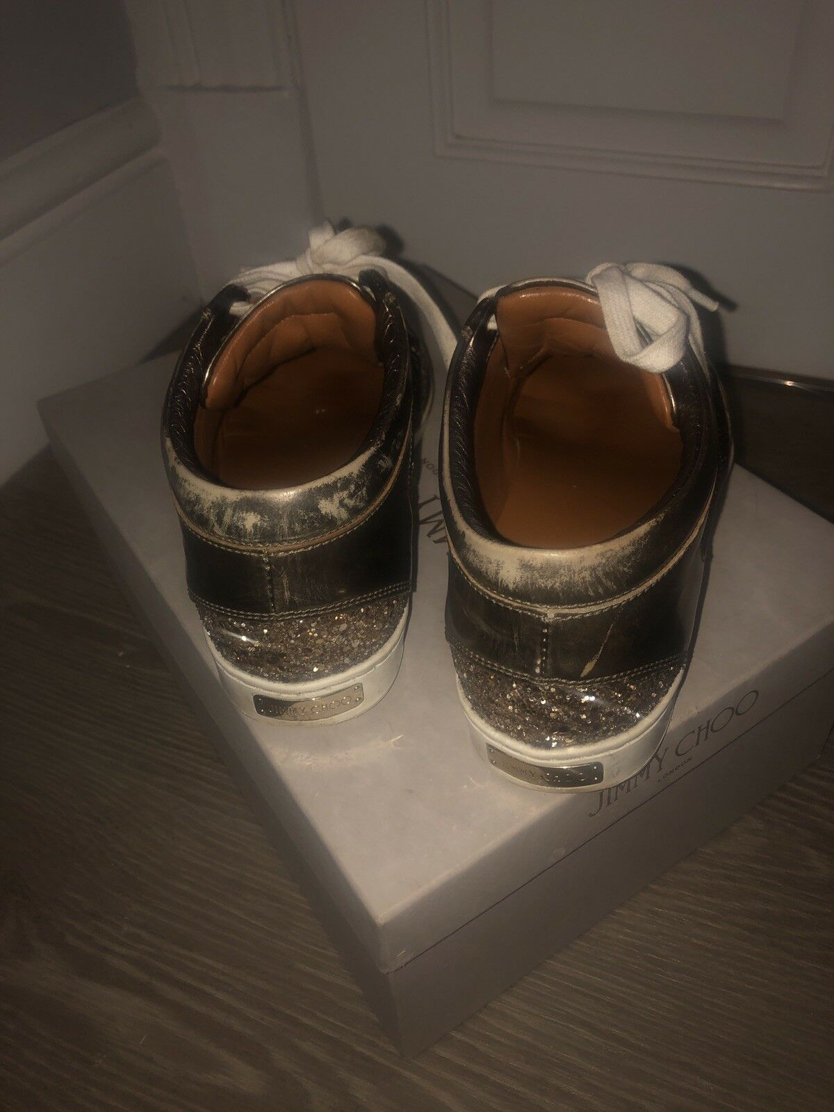 gold gold gold Limited Edition Jimmy Choo Trainers b242a2
