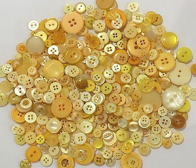 8 Light Yellow Lemon Shank Buttons 14mm L0025 AUSSIE SELLER