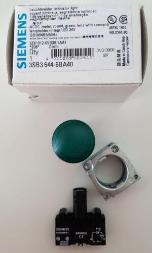 Siemens Leuchtmelder Metal grün komplett 3SB3644-6BA40 LED 24VDC NEU in OVP !!!