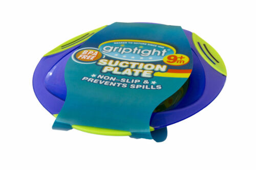 Griptight Baby Suction Feeding Plate Non-slip /& Prevents Spills