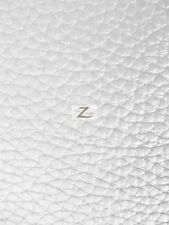 """TEXTURED PVC VINYL LEATHER FABRIC - White - 55""""  WIDTH SOLD BTY"""