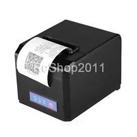 Hoin 80mm&58mm Pos Dot Receip Paper Barcode Thermal Printer Usb+lan Port Us Ship