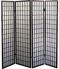 """Legacy Decor 4-Panel Shoji Screen Room Divider, Espresso Finish 71""""H X 70""""W"""